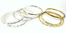 Zentosa Jewellery Messages Inspiration Engraved Bangle - Choice of Message
