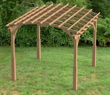 Garden Pergola Woodworking Plans - Arched Roof 001