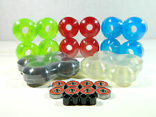 Blank Pro Skateboard 52mm Clear Color Wheels + ABEC 7 Color Bearings + Spacers