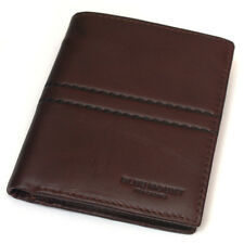 New Vintage Style Brown Leather Bifold Wallet Purse Zippered Pocket-MJ2492/3492
