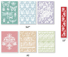 Cricut Cuttlebug Embossing Folders & Borders