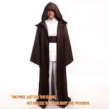1pc High Quality STAR WARS Jedi Cape Cloak Hooded Cosplay Costume Kid&Adult