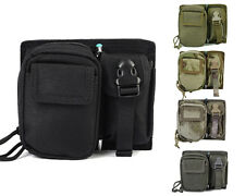 3 Co Airsoft Molle Tactical 1000D Nylon Utility & Mobile Phone Pouch Bag Black B