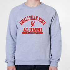 SMALLVILLE HIGH ALUMNI funny hip retro superman new tee GREY MENS SWEATSHIRT 121
