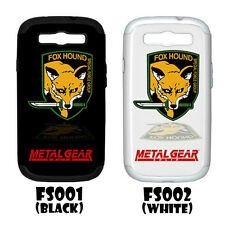 FOX HOUND METAL GEAR SOLID Samsung Galaxy S III S3 Hardshell Case(PC+Silicone)