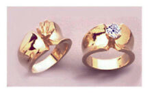 6 or 7mm Round Concave 14kt White or Yellow Gold Heavy Ring Setting Size 7