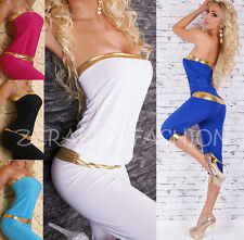 SEXY BANDEAU* OVERALL* JUMPSUIT* HOSENANZUG* DAMENOVERALL*ONE SIZE* 34 36 38