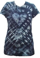 Ladies Tie Dye T Shirt  Dark Heart   Hand crafted in the UK by Sunshine Clothing