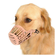 New Adjustable Soft Safe Plastic Cage Muzzle For Small-Large Dog Puppy