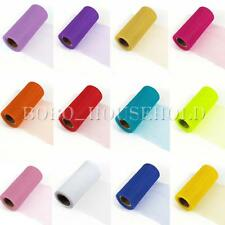 """New 12 Colors 6"""" 15cm 25YD Tulle Spool Roll Wedding Party Decoration Craft Tutu"""