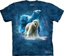 THE MOUNTAIN POLAR COLLAGE BEAR ANIMAL MAJESTIC ARCTIC SNOW T TEE SHIRT  S-3XL