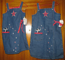 Girl's Big Dog Denim Jumpers/Dress Size 4-5 and 6X