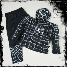 BNWT Halloween Boys Girl Black Spiderman Superhero Fancy Party Costume 2-7 Years
