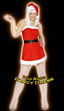*** SALE *** FANCY DRESS COSTUME # LADIES CHRISTMAS LADY SANTA SIZE 8-14