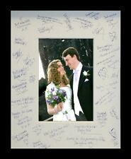 Wedding Photo Frame with Guest Signature Mount. Fully Glazed and Text Box Option