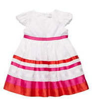 Carter's  Puff Sleeved Striped Dress  Size: 18,24 Months