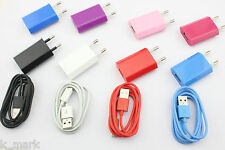 1m/2m/3m USB Cable + EU Wall Charger For Sony L36h Xperia Z S TX P Acro U SP Arc