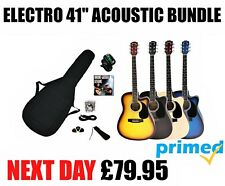 BRAND NEW  ELECTRO / ELECTRIC SEMI ACOUSTIC GUITAR PACKAGE 15w AMP OPTION