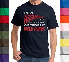 I'm An Ass Hole @sshole Funny T Shirt Novelty Tee Rude Offensive Humor Mens -New