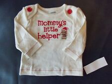 NWT Girl's Gymboree Winter Cheer Mommy's helper shirt ~ 3 6 12 18 24 months 2T