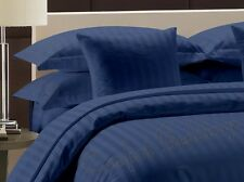 Sale-Complete Bedding Collection 1000TC Egyptian Cotton Blue Stripe In All Size