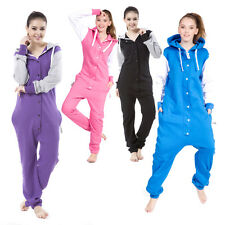 Nordic Way Women Onezie Hoodie One Piece Jumpsuit Ladies Romper Cotton Fleece