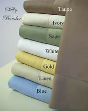 100% Bamboo PILLOW CASE SET ~  Standard - Queen & King Size ~ 7 Colors!!