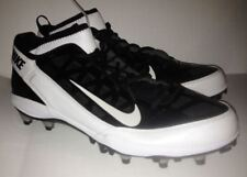 NIKE Air Zoom Super Bad 3 Black White Molded Football Lacrosse Cleats NEW Men 15