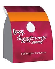 L'eggs Sheer Energy Active Support Regular, Reinforced Toe Pantyhose 4pk, 67508