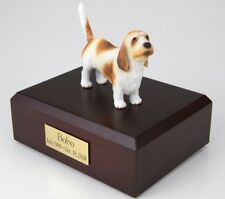 Basset Griffon Vendeen Pet Funeral Cremation Urn Avail in 3 Diff Colors & 4 Size