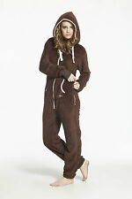 Fashion One Piece Jumpsuit Adult Fleece Unisex Hoody Teddy Bear Comfy All In One