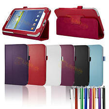 """PU Leather Stand Case Cover For Samsung Galaxy Tab 3 Tablet P3200 P3210 7.0"""" 7"""""""