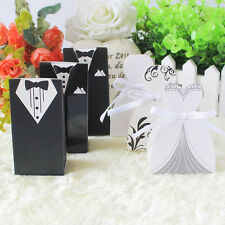 Three Patterns Wedding Tuxedo/Gown Favor Gifts Candy Boxes
