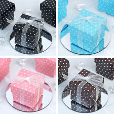 """100 2x2"""" Polka Dot Wedding Favors Gift BOXES with Removable Lid Party Supplies"""
