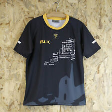 Cornwall Select 15 / Clubs XV BLK Official Replica Mens Rugby Shirt Black/Gold