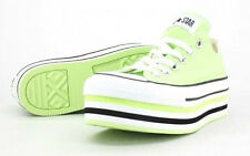 Converse Chuck Taylor All Star Platform Oxford Sneakers Shoes SHARP GREEN NEON