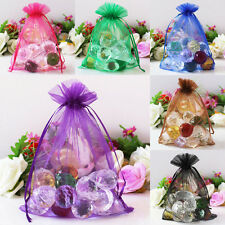 25/50/100 pieces 20x30cm Large Size Organza Gift Bags/Jewelry Pouches 21 Colors