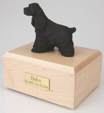 Black Cocker Spaniel Pet Funeral Cremation Urn Avail in 3 Diff Colors & 4 Sizes