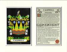 CALDWELL Family Coat of Arms Crest + History - Available Mounted or Framed