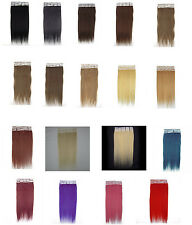 """100% Tape In Remy Human Hair Straight Extension pcs 16""""-24'' 30g-70g 20Pcs Free"""