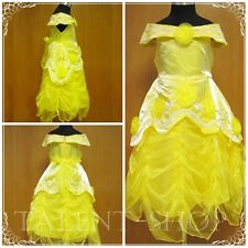 BNWT Baby Girls Yellow Belle Princess Party Fancy Dress Costume Outfit 2-9 Years