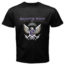 New Saints Row 4 IV Video Games XBOX 360 PS3 PC Black T Shirt Size S - 3XL Av
