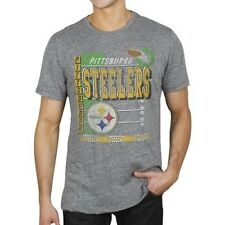 AUTHENTIC JUNK FOOD PITTSBURGH STEELERS TOUCHDOWN FOOTBALL MEN T SHIRT S-2XL