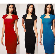 LADIES CLASSIC & ELEGANT SQUARE NECK COCKTAIL PENCIL DRESS FOR PARTIES OR CASUAL