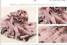 Women Lady Chiffon  Marilyn Monroe Heads Print Scarf Shawl Wrap Long Stole
