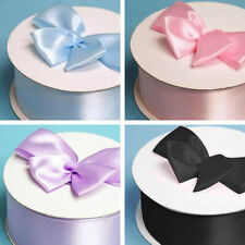 """2"""" wide x 50 yards SATIN Single Side RIBBON Wedding FAVORS Sewing Crafts Supply"""