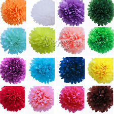 "5pcs 6"" 8"" 10"" 12"" Tissue Paper Pom Poms Flower Balls Wedding Party Shower Decor"