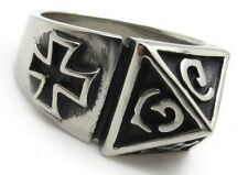 Brand new pyramid ring size 10 biker ring goth ring