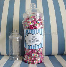 GIANT PERSONALISED RETRO SWEETS VICTORIAN JAR PARTY X'MAS WEDDING BIRTHDAY GIFT