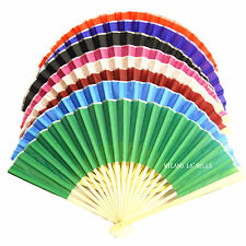 1 Bamboo Frame Strong Fabric Japanese Chinese Hand Fan for Party Wedding Gift